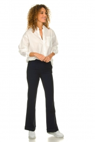 Lois Jeans |  L32 Trousers Silvia | dark blue  | Picture 3