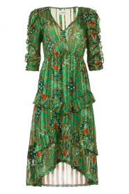ba&sh |  Printed midi dress Happy | green  | Picture 1