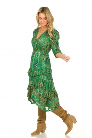ba&sh |  Printed midi dress Happy | green  | Picture 3