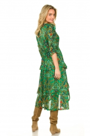 ba&sh |  Printed midi dress Happy | green  | Picture 6