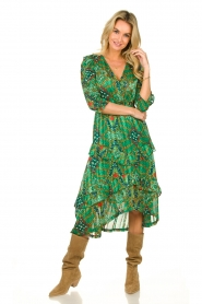 ba&sh |  Printed midi dress Happy | green  | Picture 4