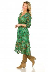 ba&sh |  Printed midi dress Happy | green  | Picture 5