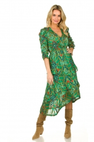 ba&sh |  Printed midi dress Happy | green  | Picture 2