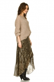 ba&sh |  Silk leopard maxi skirt with lurex Jalvy | animal print  | Picture 4
