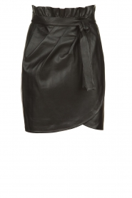 ba&sh |  Leather wrap skirt Luna | black  | Picture 1