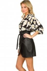 ba&sh |  Leather wrap skirt Luna | black  | Picture 5