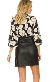 ba&sh |  Leather wrap skirt Luna | black  | Picture 6