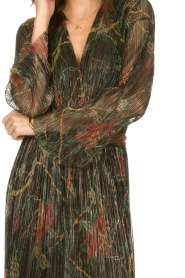 ba&sh |  Floral maxi dress with lurex Hendrix | black  | Picture 7