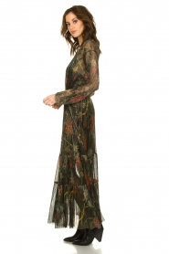 ba&sh |  Floral maxi dress with lurex Hendrix | black  | Picture 5