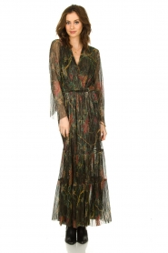 ba&sh |  Floral maxi dress with lurex Hendrix | black  | Picture 4