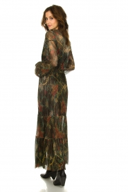 ba&sh |  Floral maxi dress with lurex Hendrix | black  | Picture 6