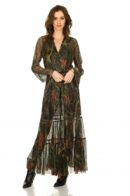 ba&sh |  Floral maxi dress with lurex Hendrix | black  | Picture 3