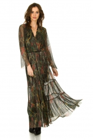 ba&sh |  Floral maxi dress with lurex Hendrix | black  | Picture 2