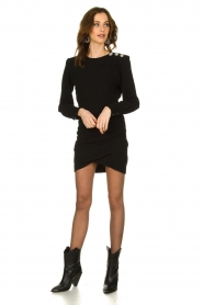 ba&sh |  Dress with button details Sloane | black  | Picture 3