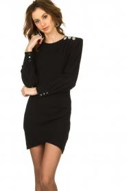 ba&sh |  Dress with button details Sloane | black  | Picture 2