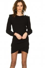 ba&sh |  Dress with button details Sloane | black  | Picture 4