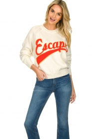 ba&sh |  Oversized sweater with text Nervi | naturel  | Picture 2