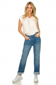 ba&sh |  High waist jeans Cosm | blue  | Picture 4