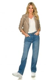 ba&sh |  High waist jeans Cosm | blue  | Picture 3