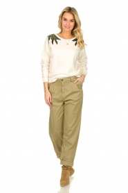 ba&sh |  Poplin pants Paige | beige  | Picture 4