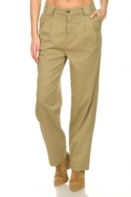 ba&sh |  Poplin pants Paige | beige  | Picture 2