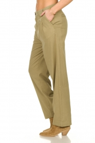 ba&sh |  Poplin pants Paige | beige  | Picture 5