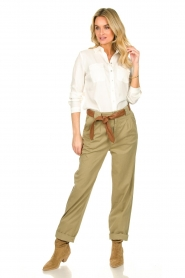 ba&sh |  Poplin pants Paige | beige  | Picture 3
