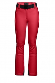Goldbergh |  Ski pants with belt Pippa | red  | Picture 1