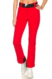 Goldbergh |  Ski pants with belt Pippa | red  | Picture 4