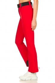 Goldbergh |  Ski pants with belt Pippa | red  | Picture 3