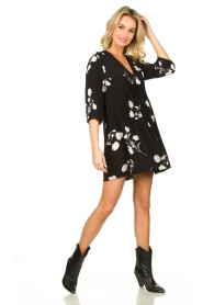 ba&sh |  Dress with flowers Pansy | black  | Picture 3