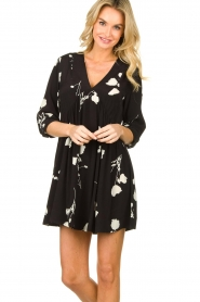 ba&sh |  Dress with flowers Pansy | black  | Picture 4