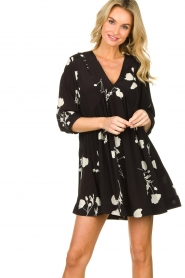ba&sh |  Dress with flowers Pansy | black  | Picture 2