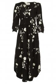 ba&sh |  Maxi dress with flowers Paule | black  | Picture 1