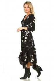 ba&sh |  Maxi dress with flowers Paule | black  | Picture 3