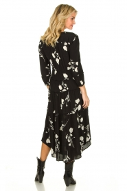 ba&sh |  Maxi dress with flowers Paule | black  | Picture 4