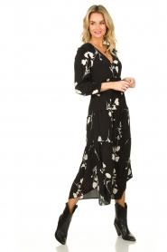 ba&sh |  Maxi dress with flowers Paule | black  | Picture 2