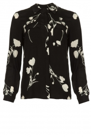 ba&sh |  Blouse with flowers Pola | black  | Picture 1