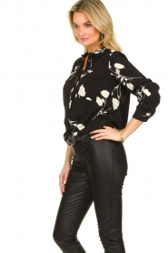ba&sh |  Blouse with flowers Pola | black  | Picture 4