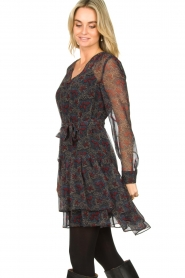 Freebird :  Wrap dress with print Mo | blue - img5