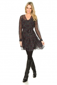 Freebird :  Wrap dress with print Mo | blue - img3