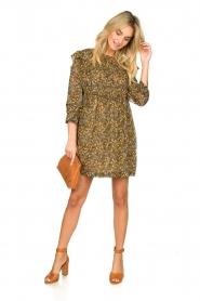 ba&sh |  Printed dress Sandra | brown   | Picture 3