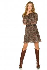 Freebird |  Lurex print dress Frida | multi  | Picture 3