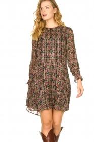 Freebird |  Lurex print dress Frida | multi  | Picture 4