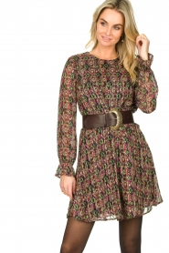 Freebird |  Lurex print dress Frida | multi  | Picture 4