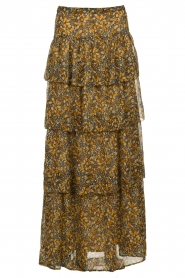 ba&sh |  Printed maxi skirt Sible | brown  | Picture 1