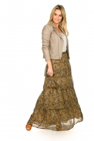 ba&sh |  Printed maxi skirt Sible | brown  | Picture 6