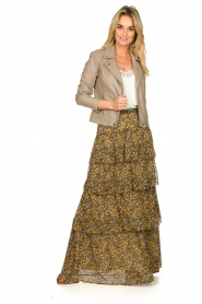 ba&sh |  Printed maxi skirt Sible | brown  | Picture 3