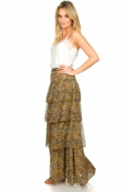 ba&sh |  Printed maxi skirt Sible | brown  | Picture 4