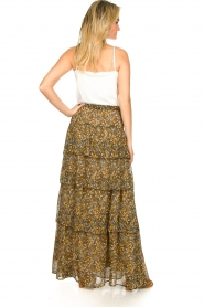 ba&sh |  Printed maxi skirt Sible | brown  | Picture 5